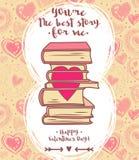 Nette Karte für Valentinsgrußtag stock abbildung