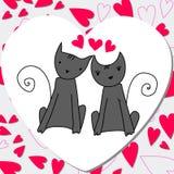 Nette Katzen in der Liebe Lizenzfreies Stockbild