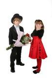 Nette Kinder in der formalen Kleidung Lizenzfreie Stockbilder