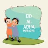 Nette Kinder, die Eid al-Adha-Festival feiern Stockfotos