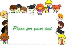 Nette Kinder, Feld, für Ihre Auslegung Lizenzfreies Stockbild