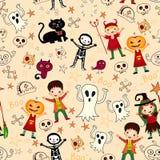Nette Kinder in Halloween-Kostümen Lizenzfreie Stockbilder