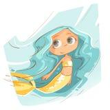 Nette kleine Meerjungfrau stockfotos