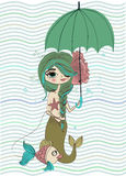 Nette kleine Meerjungfrau Stockfotografie