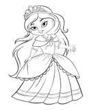 Nette kleine Prinzessin Stockfoto