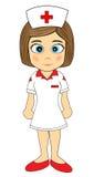 Nette kleines Mädchen-Krankenschwester Lizenzfreies Stockfoto
