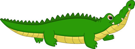 Nette Krokodilkarikatur Lizenzfreie Stockfotografie