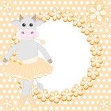 Nette Kuhballerina Stockfoto