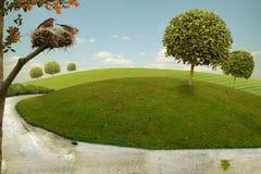 Nette Landschaft Stockbild