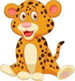 Nette Leopardkarikatur Lizenzfreie Stockfotos