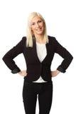 Nette lokalisierte Geschäftsfrau Lizenzfreies Stockfoto