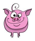 Nette lustige Schweinkarikatur Lizenzfreie Stockfotos