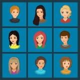 Nette Mädchen mit verschiedenen Frisuren Lizenzfreie Stockfotos