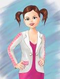 Nette Mädchen- und Kleidungskleidung, Mädchenalltagskleidung, Jahreszeitabnutzung, Mode, ilustration, Freizeitkleidung, schönes M vektor abbildung