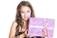 Nette Mädchenaufstellung Stockfotografie