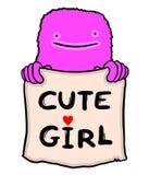 Nette Mädchenmitteilung Stockbilder