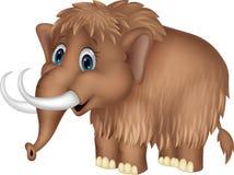 Nette mammooth Karikatur Stockfoto