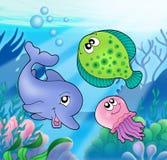Nette Marinetiere Stockbild