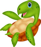 Nette Meeresschildkrötekarikatur Lizenzfreie Stockfotografie