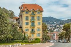 Nette Mittelmeerhausfassaden Stockfotografie