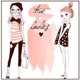 Nette Modemädchen stock abbildung