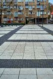 Nette moderne Ansicht von Quadrat Nowy Targ in alter Stadt Breslaus Breslau ist die größte Stadt in West-Polen Stockfotos