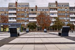 Nette moderne Ansicht von Quadrat Nowy Targ in alter Stadt Breslaus Breslau ist die größte Stadt in West-Polen Lizenzfreie Stockfotos