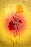 Nette Mohnblumen auf dem Segeltuch. Stockfoto
