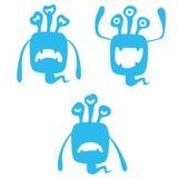 Nette Monster-Ausdrücke Stockbilder
