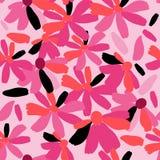 Nette nahtlose mit Blumenbeschaffenheit mit rosa Blumen Lizenzfreie Stockbilder