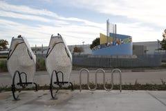 Nette Nord-Station Carrollton Frankford Texas-Ansicht Lizenzfreies Stockbild