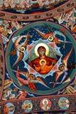 Nette orthodoxe byzantinische Ikonen Heilig-Anna--Rohiakloster, aufgestellt in einem natürlichen und lokalisierten Platz, in Mara Stockfoto