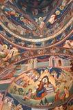 Nette orthodoxe Ikonen Heilig-Anna--Rohiakloster, aufgestellt in einem natürlichen und lokalisierten Platz, in Maramures, Siebenb Lizenzfreies Stockfoto