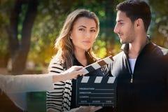 Nette Paare bereit zu einem Trieb Lizenzfreie Stockfotografie