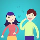 Nette Paare, die zusammen lachen Lizenzfreie Stockfotos