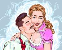 Nette Paare von Liebhabern lizenzfreie abbildung