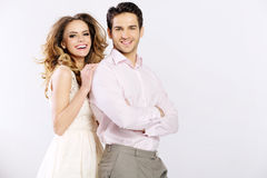 Nette Paare, welche die schöne Zeit zusammen haben stockbilder