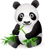 Nette Pandakarikatur Stockbild