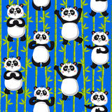 Nette Pandas und Bambus stock abbildung