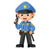 Nette Polizistkarikatur lizenzfreie stockbilder