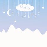 Nette Postkarte mit Weihnachten Lizenzfreies Stockfoto