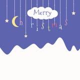 Nette Postkarte mit Weihnachten Stockfoto