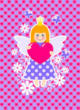 Nette Prinzessin Stockfoto