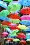 Nette Regenschirme Stockfoto