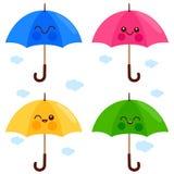 Nette Regenschirmzeichen Lizenzfreies Stockfoto