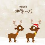 Nette Rene für Weihnachtsfeier lizenzfreie abbildung