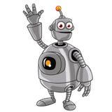Nette Roboterkarikatur lizenzfreie abbildung