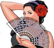 Nette romantische Frau Lizenzfreies Stockfoto