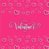 Nette romantische Herzen valentine' s-Tagesmusterhintergrund stockfotografie
