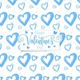 Nette romantische Herzen valentine' s-Tagesmusterhintergrund stockbild